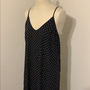 Polka dot cross back maxi dress